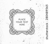 vintage frame for luxury logos  ... | Shutterstock .eps vector #280489565