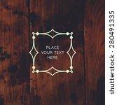 vintage frame for luxury logos  ...   Shutterstock .eps vector #280491335