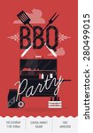 lovely vector barbecue party... | Shutterstock .eps vector #280499015