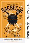 lovely vector barbecue party... | Shutterstock .eps vector #280499018