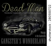 dead man car vector... | Shutterstock .eps vector #280500722