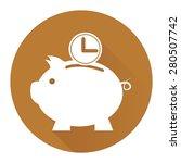 brown circle time saving  time...