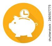 yellow circle time saving  time ...