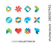 logo collection 03. vector... | Shutterstock .eps vector #280507952