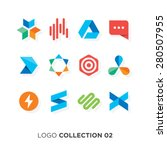 logo collection 02. vector... | Shutterstock .eps vector #280507955