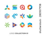 logo collection 01. vector... | Shutterstock .eps vector #280507958