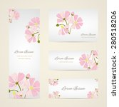 invitation card with floral... | Shutterstock .eps vector #280518206