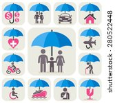 insurance protection concept... | Shutterstock .eps vector #280522448