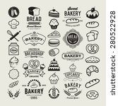 bakery logotypes set. bakery... | Shutterstock .eps vector #280522928