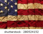 old american flag background... | Shutterstock . vector #280524152