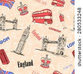 england london attractions... | Shutterstock .eps vector #280533248