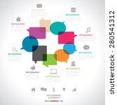 modern infographics  | Shutterstock .eps vector #280541312