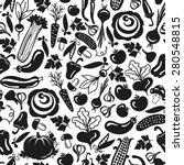 seamless pattern vegetables on... | Shutterstock . vector #280548815