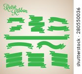 retro green ribbon banners... | Shutterstock .eps vector #280550036