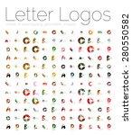 mega set of various letter...   Shutterstock .eps vector #280550582