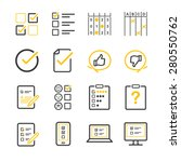 questionnaire and survey vector ... | Shutterstock .eps vector #280550762
