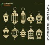 old east lamp ramadan kareem... | Shutterstock .eps vector #280551242