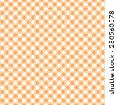 orange   white diagonal gingham ...   Shutterstock . vector #280560578