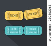 tickets icon. flat design.... | Shutterstock .eps vector #280563068