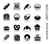 flat bakery icons set  isolated ... | Shutterstock .eps vector #280571108
