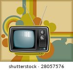 vector retro tv background | Shutterstock .eps vector #28057576
