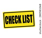 Check List Black Stamp Text On...