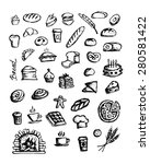 bakery collection  sketch for... | Shutterstock .eps vector #280581422
