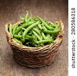 Full Wicker Basket Of Green...