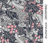 vector floral seamless pattern... | Shutterstock .eps vector #280589882