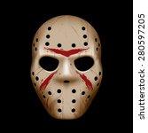 evil hockey mask | Shutterstock .eps vector #280597205