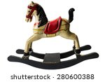 Wooden colored rocking horse