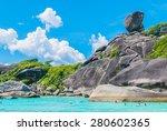 similan island and beautiful... | Shutterstock . vector #280602365