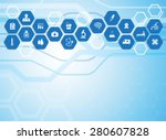medical background and icons to ... | Shutterstock .eps vector #280607828