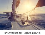 sailing boat  | Shutterstock . vector #280618646