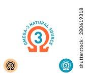 Omega 3 Symbol. Natural Product ...