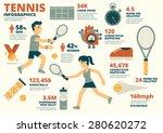 tennis infographics | Shutterstock .eps vector #280620272
