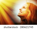 young woman in the light | Shutterstock . vector #280621745