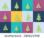 christmas icons set with... | Shutterstock .eps vector #280621958
