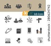 job icons set vector | Shutterstock .eps vector #280624742