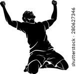 soccer player jubilant win... | Shutterstock .eps vector #280627346