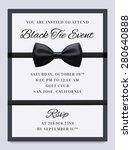 elegant vector black tie event... | Shutterstock .eps vector #280640888
