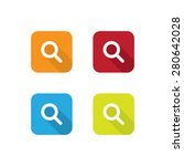 colorful flat search icons with ...