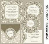 classic baroque business cards... | Shutterstock .eps vector #280643732