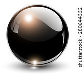 3d Crystal Sphere  Vector...