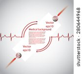 abstract medical cardiology ekg ... | Shutterstock .eps vector #280644968