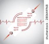 abstract medical cardiology ekg ...   Shutterstock .eps vector #280644968