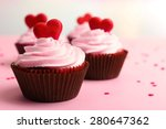 delicious cupcake for valentine ... | Shutterstock . vector #280647362