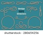 set of rope design elements.... | Shutterstock .eps vector #280654256