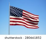 United States 3d Flag Floating...