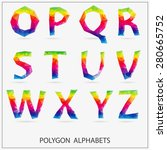 alphabet polygon_2 | Shutterstock .eps vector #280665752